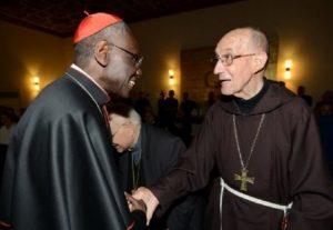 Kardinal Sarah und Bischof Juan Rodolfo Laise